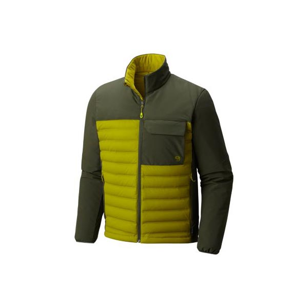 Men Mountain Hardwear StretchDown™ HD Jacket Python Green, Surplus Green Outlet Online