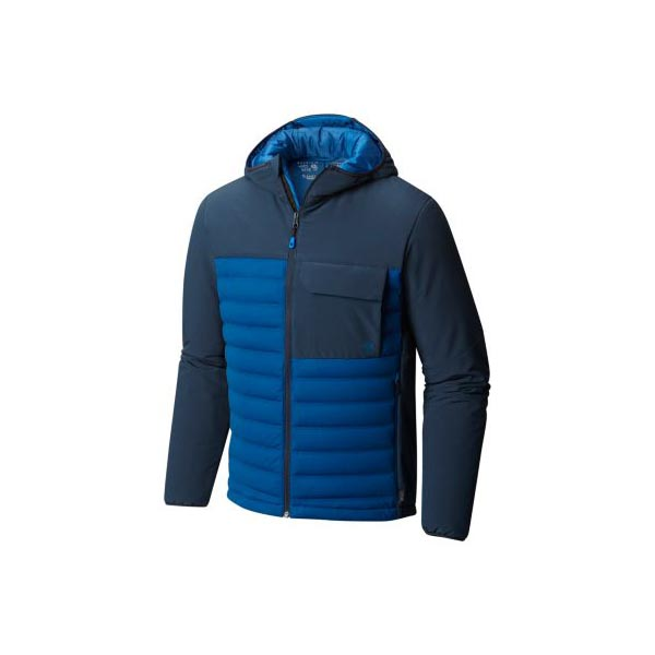 Men Mountain Hardwear StretchDown™ HD Hooded Jacket Nightfall Blue, Hardwear Navy Outlet Online