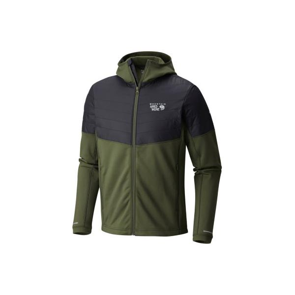 Men Mountain Hardwear 32 Degree™ Insulated Hooded Jacket Surplus Green Outlet Online