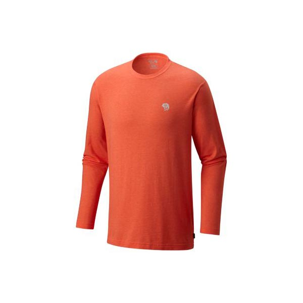 Men Mountain Hardwear MHW Logo Graphic Long Sleeve T Heather State Orange Outlet Online