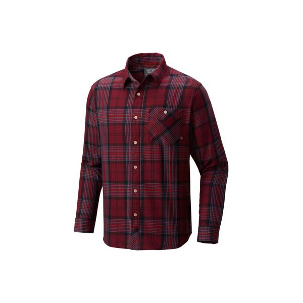 Men Mountain Hardwear Franklin™ Long Sleeve Shirt Cote Du Rhone Outlet Online
