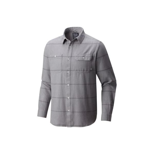 Men Mountain Hardwear Frequenter™ Stripe Long Sleeve Shirt Grey Ice Outlet Online