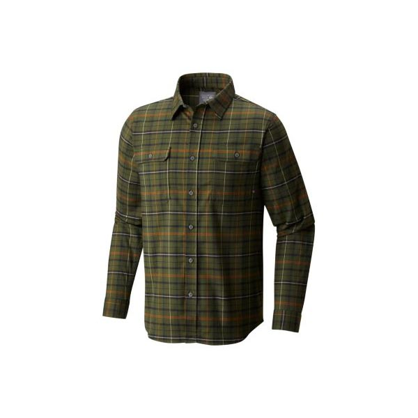 Men Mountain Hardwear Stretchstone™ Long Sleeve Shirt Surplus Green Outlet Online