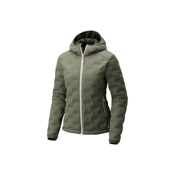 Women Mountain Hardwear StretchDown™ DS Hooded Jacket Green Fade Outlet Online