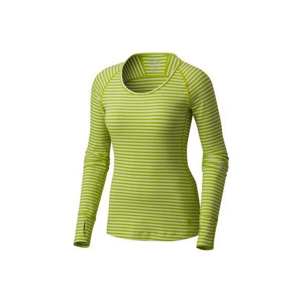 Women Mountain Hardwear Butterlicious™ Stripe Long Sleeve Crew Fresh Bud Outlet Online