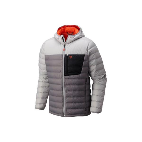 Cheap Mountain Hardwear Men Manta Grey, Grey Ice Dynotherm™ Down Hooded Jacket Online