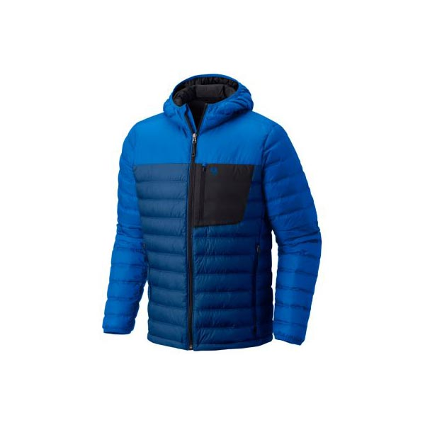 Mountain Hardwear Dynotherm™ Down Hooded Jacket Men Nightfall Blue, Altitude Blue Outlet Store