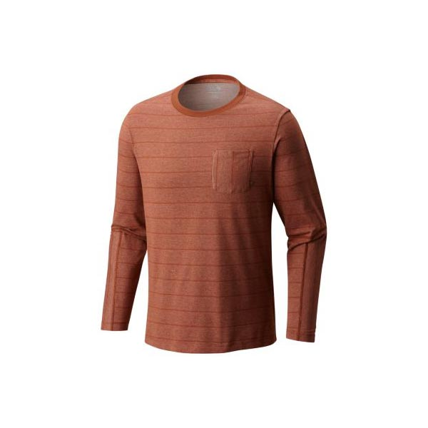 Men Mountain Hardwear ADL™ Long Sleeve Pocket T Iron Oxide Outlet Online