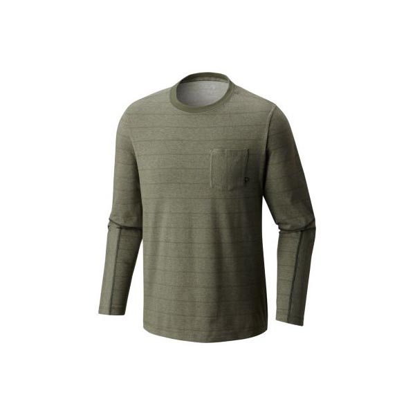 Cheap Mountain Hardwear Men Surplus Green ADL™ Long Sleeve Pocket T Online