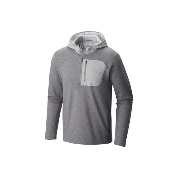 Mountain Hardwear Men Cragger™ Pullover Hoody Heather Titanium On Sale