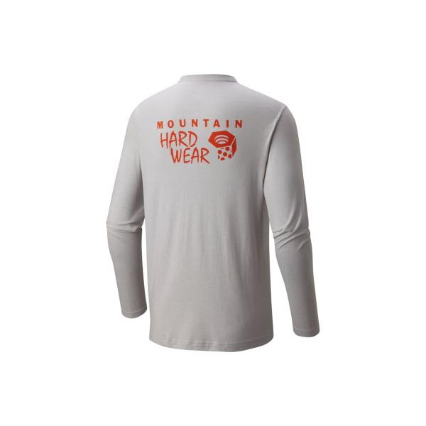 Men Mountain Hardwear MHW Logo Graphic Long Sleeve T Heather Grey Ice Outlet Online