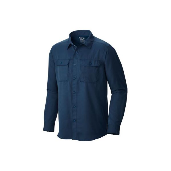 Men Mountain Hardwear Canyon™ Long Sleeve Shirt Hardwear Navy Outlet Online