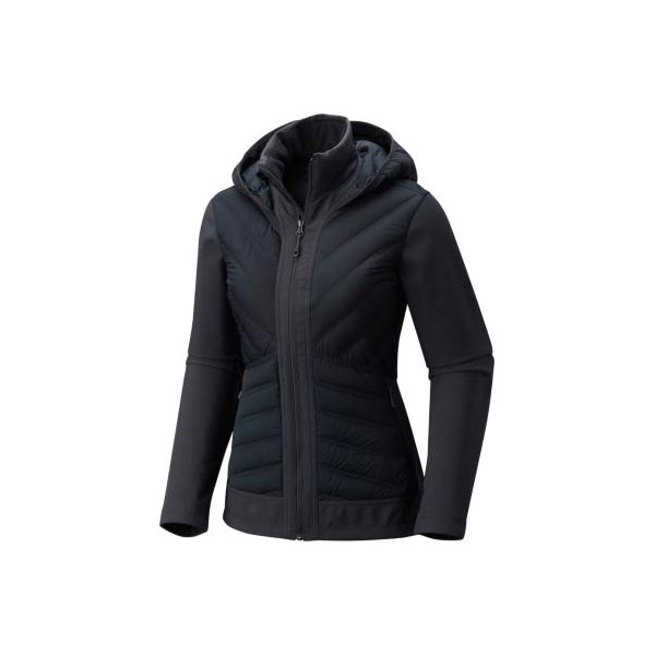 Cheap Mountain Hardwear Women Black StretchDown™ HD Hooded Jacket Online