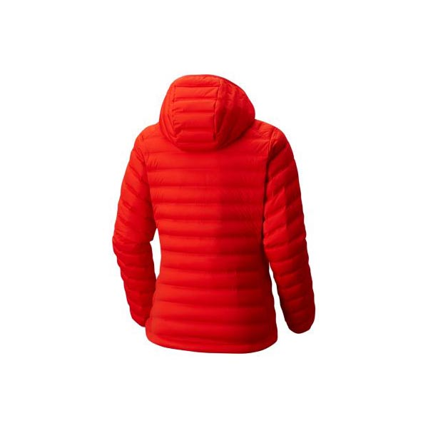 Mountain Hardwear Women StretchDown™ Hooded Jacket Fiery Red On Sale