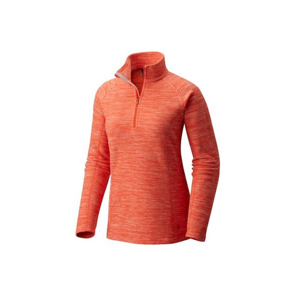 Women Mountain Hardwear Snowpass™ Fleece Zip T Heather Bright Ember Outlet Online