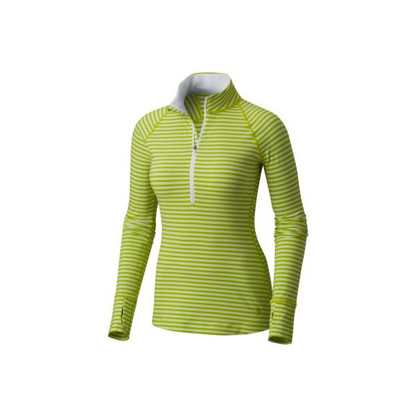 Women Mountain Hardwear Butterlicious™ Stripe Long Sleeve Half-Zip Fresh Bud Outlet Online