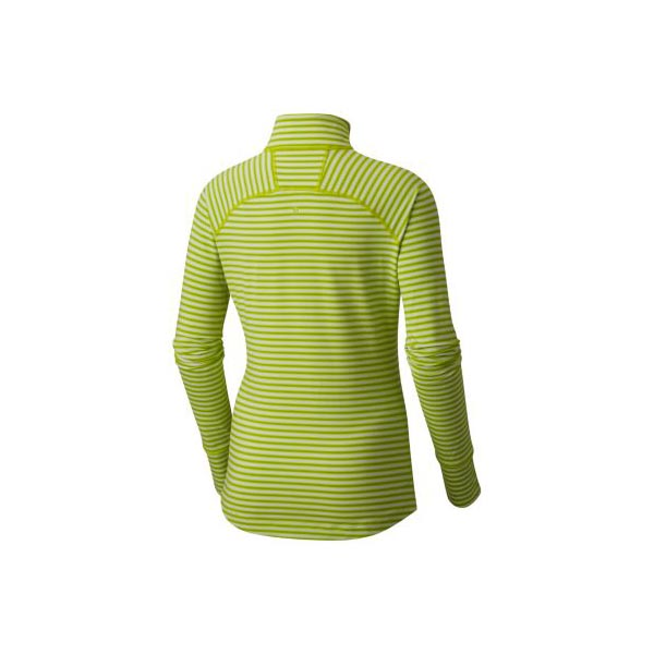 Mountain Hardwear Women Butterlicious™ Stripe Long Sleeve Half-Zip Fresh Bud On Sale