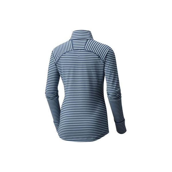 Mountain Hardwear Women Butterlicious™ Stripe Long Sleeve Half-Zip Inkwell On Sale